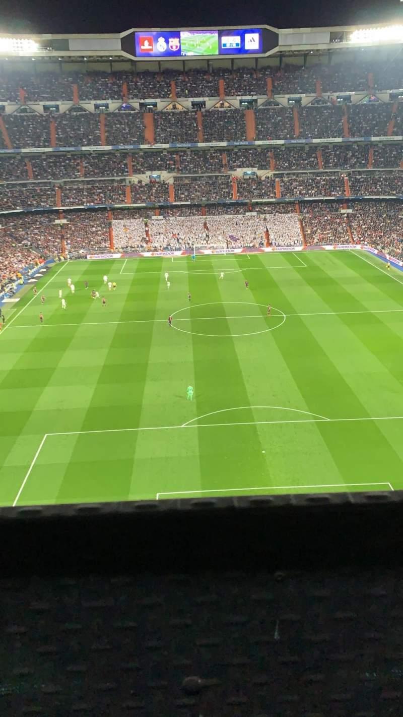 Seating view for Santiago Bernabéu Stadium Section 523 Row 001