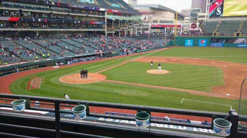 Seating view for Progressive Field Section 344 Row b Seat 1