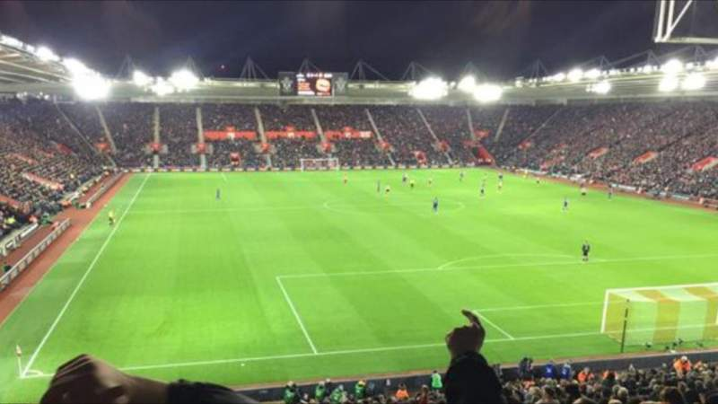 Seating view for St Mary's Stadium