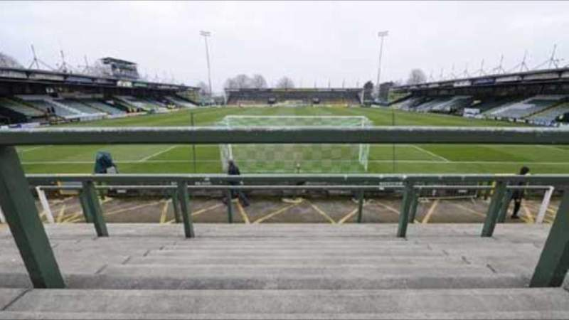 Seating view for Huish Park