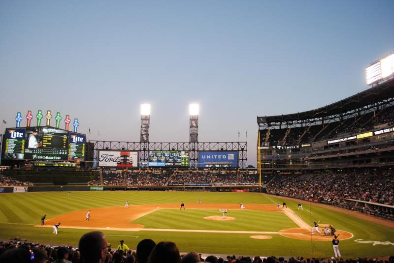Seating view for Guaranteed Rate Field Section 137 Row 31 Seat 8
