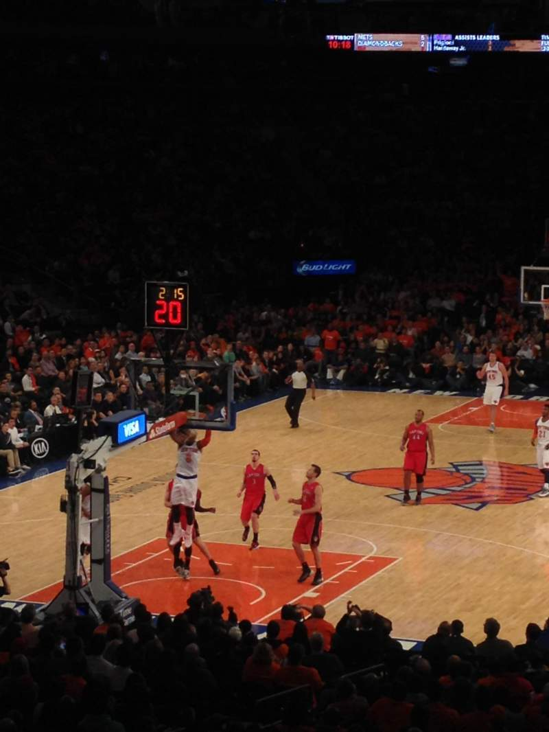 Madison Square Garden, section: 103, row: 18, seat: 13