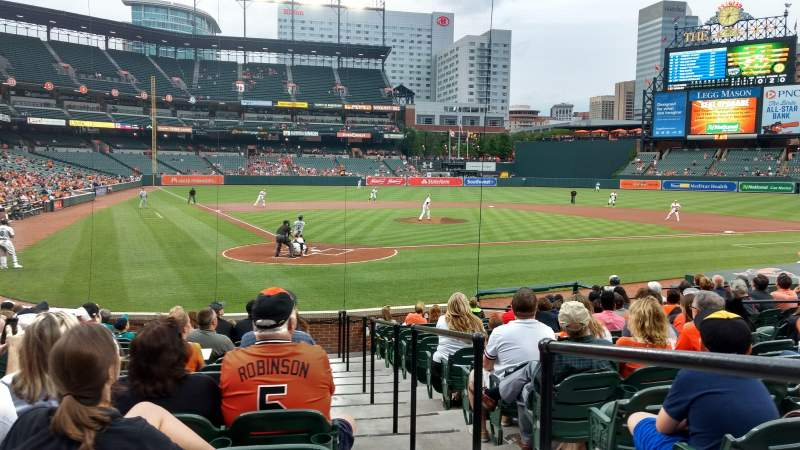 Seating view for Oriole Park at Camden Yards Section 34 Row 16 Seat 1