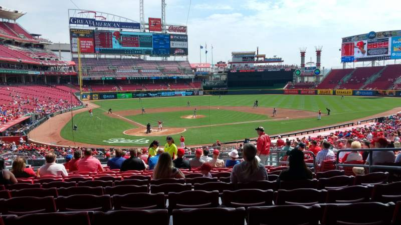 Seating view for Great American Ball Park Section 125 Row N Seat 7