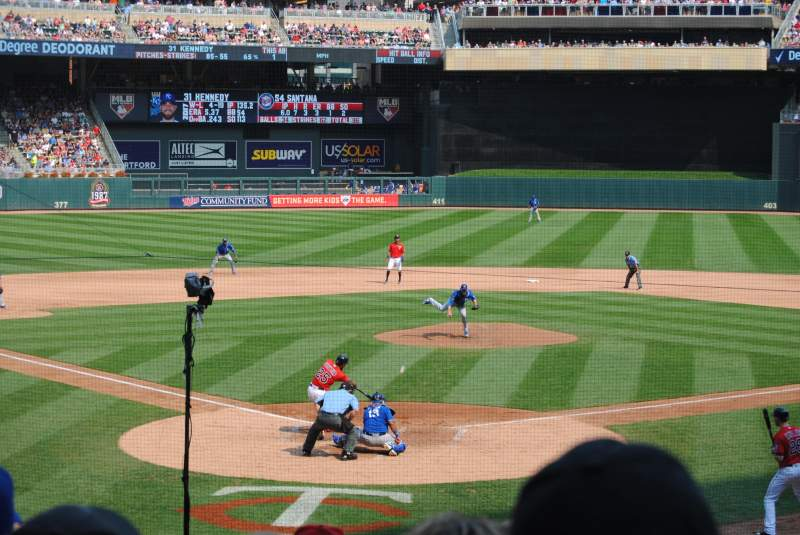 Seating view for Target Field Section 113 Row 8 Seat 7