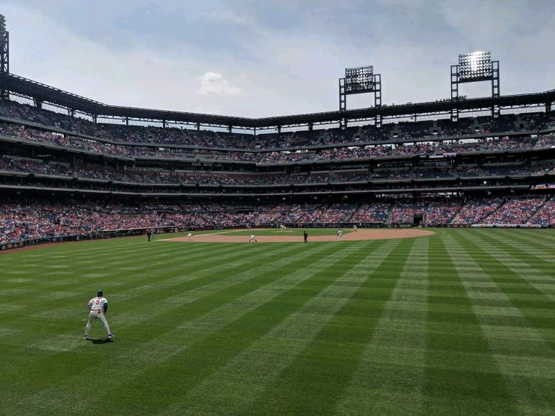 Seating view for Citizens Bank Park Section 103 Row 1 Seat 11