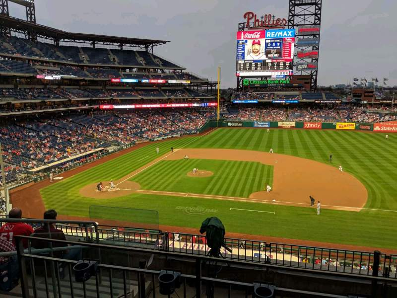Seating view for Citizens Bank Park Section 215 Row 6 Seat 9
