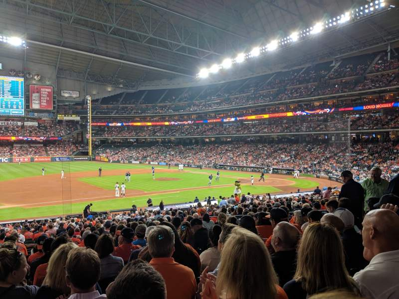Seating view for Minute Maid Park Section 111 Row 34 Seat 8