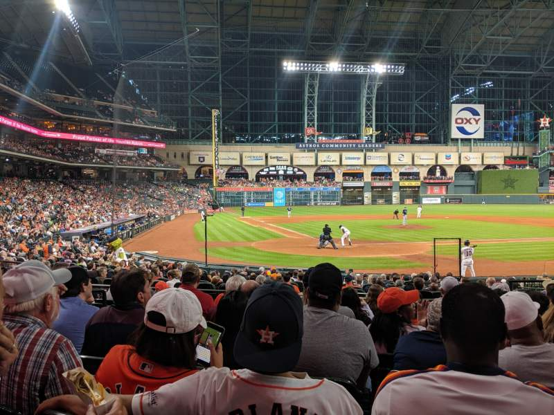 Seating view for Minute Maid Park Section 120 Row 20 Seat 18