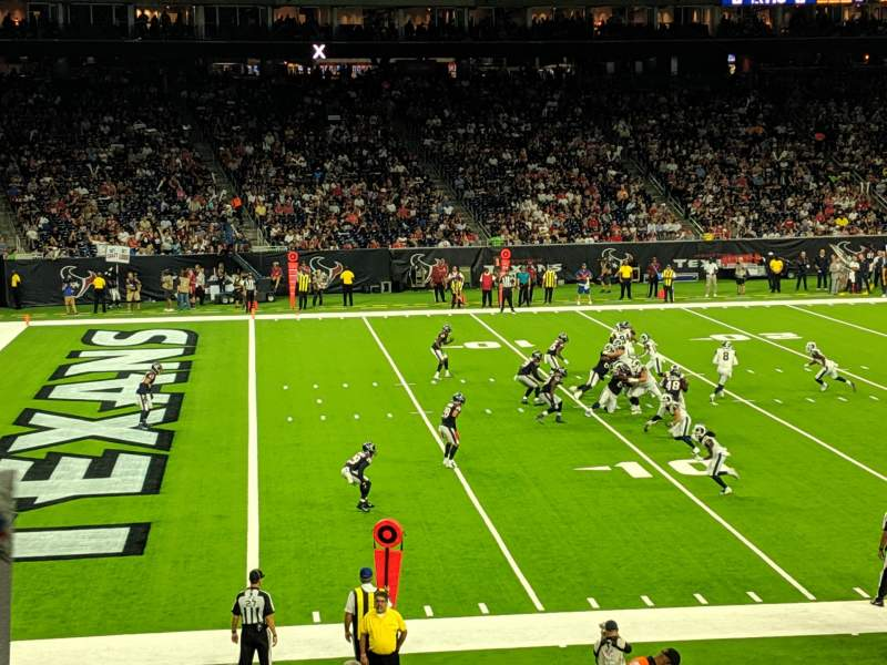 Seating view for NRG Stadium Section 130 Row X Seat 19
