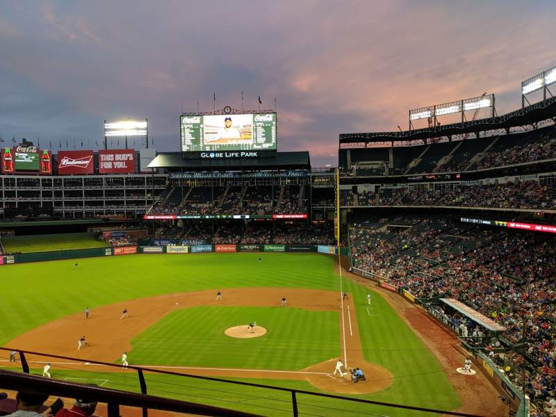 Seating view for Globe Life Park in Arlington Section 222 Row 4 Seat 1