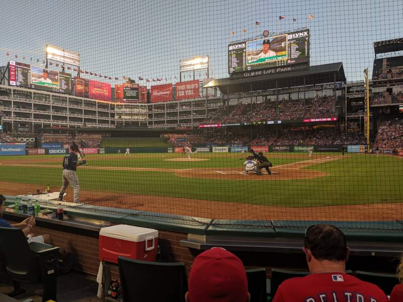 Seating view for Globe Life Park in Arlington Section 23 Row 1 Seat 5