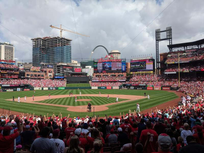 Seating view for Busch Stadium Section 150 Row 15 Seat 13