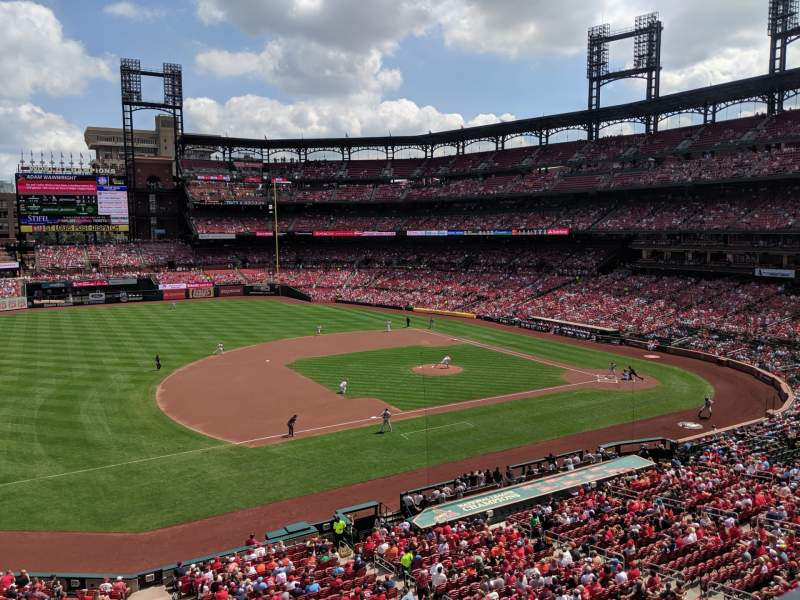 Seating view for Busch Stadium Section 259 Row 1 Seat 9