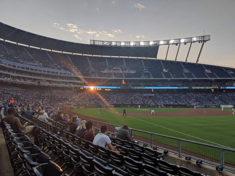 Seating view for Kauffman Stadium Section 144 Row H Seat 1
