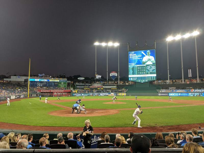 Seating view for Kauffman Stadium Section 129 Row C Seat 5