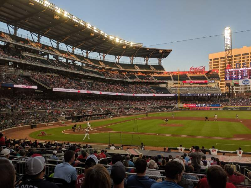 Seating view for SunTrust Park