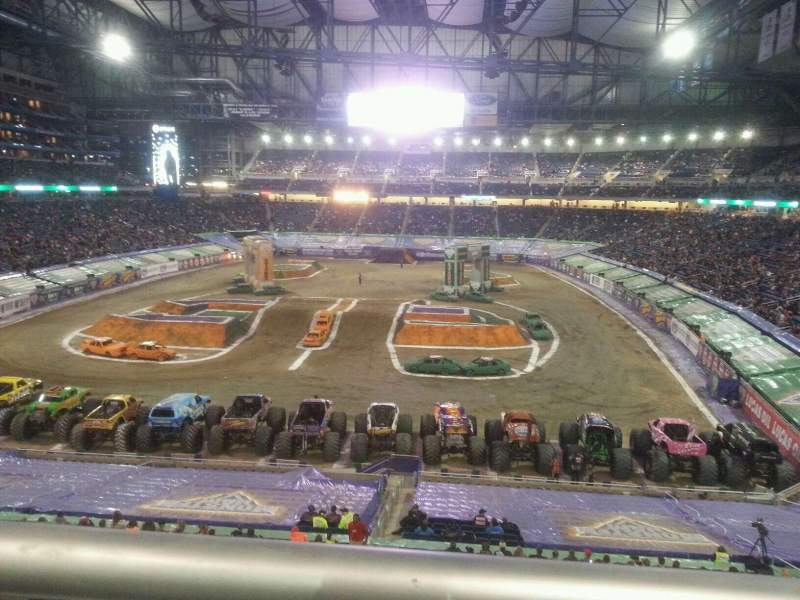 ford field section 219 row 1 seat 16 monster jam. Black Bedroom Furniture Sets. Home Design Ideas