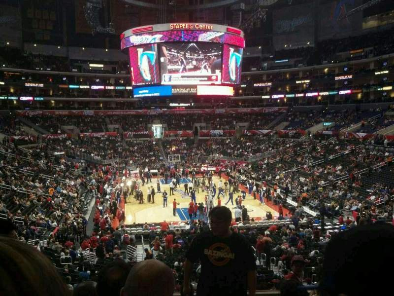 Seating view for Staples Center Section 217 Row 9 Seat 15