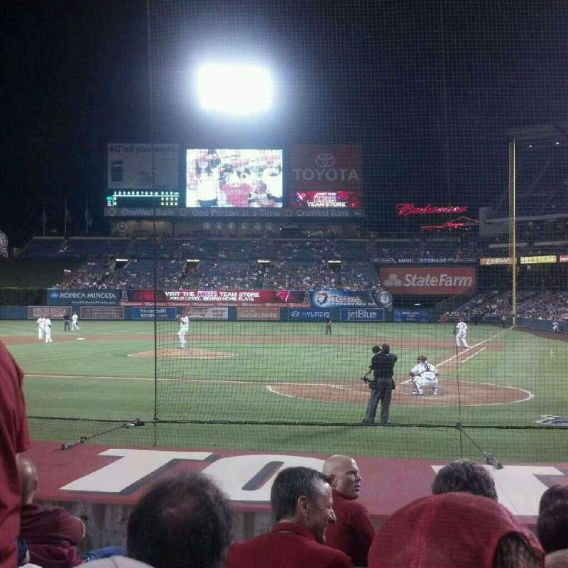 Seating view for Angel Stadium Section 115 Row H Seat 4