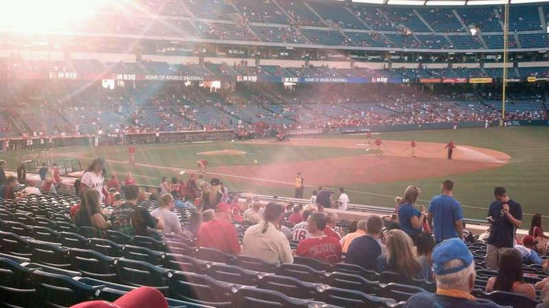 Seating view for Angel Stadium Section 128 Row X Seat 17