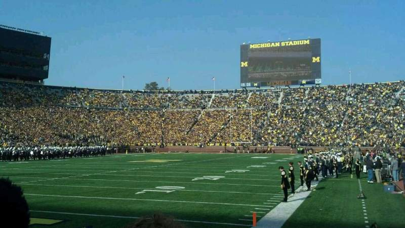Seating view for Michigan Stadium Section 9 Row 1 Seat 16