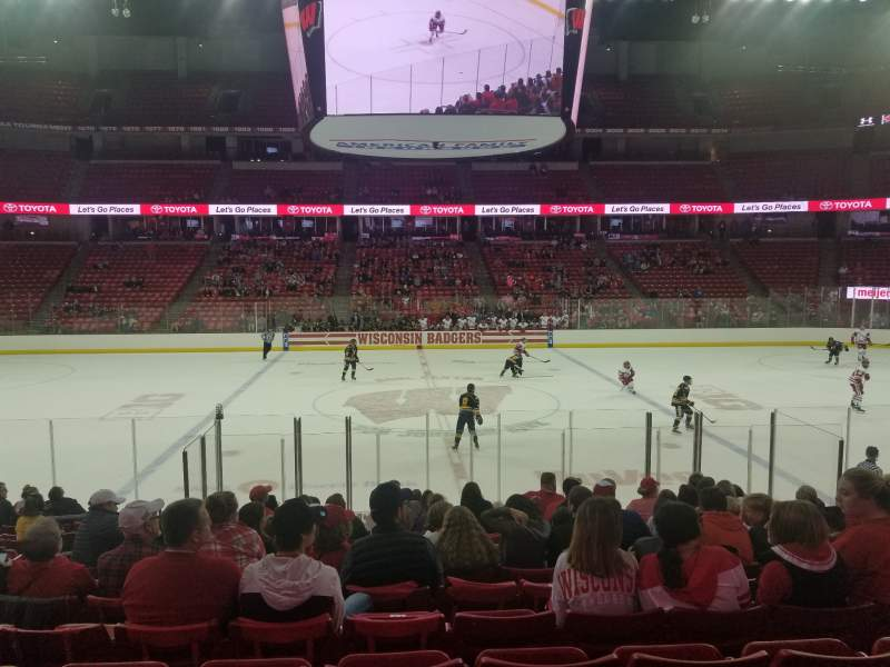 Seating view for Kohl Center Section 108 Row N Seat 13