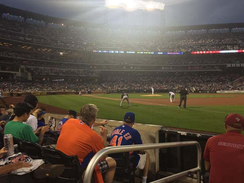 Seating view for Citi Field Section 109 Row D Seat 1