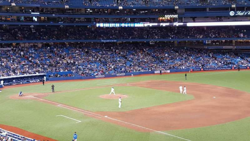 Seating view for Rogers Centre Section 213L Row 6 Seat 110