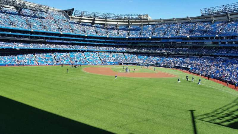 Seating view for Rogers Centre Section 243R Row 1 Seat 2