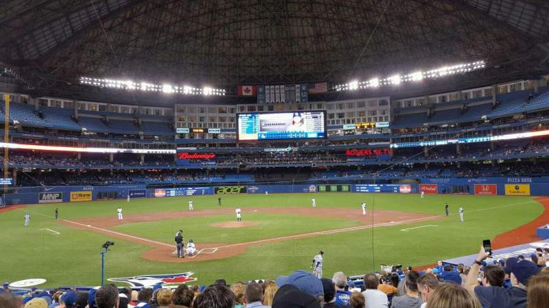 Seating view for Rogers Centre Section 120L Row 24 Seat 110