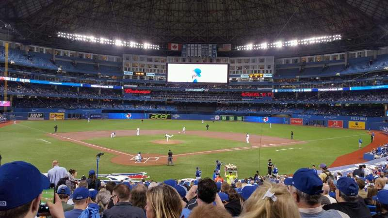 Seating view for Rogers Centre Section 120L Row 27 Seat 114