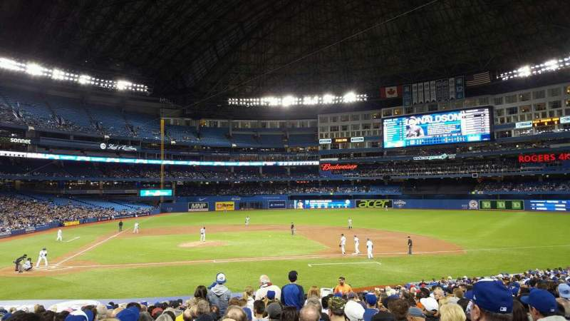 Seating view for Rogers Centre Section 117L Row 28 Seat 110