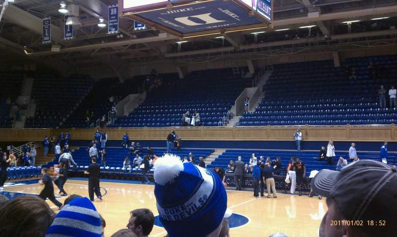 Seating view for Cameron Indoor Stadium Section 17 Row GA