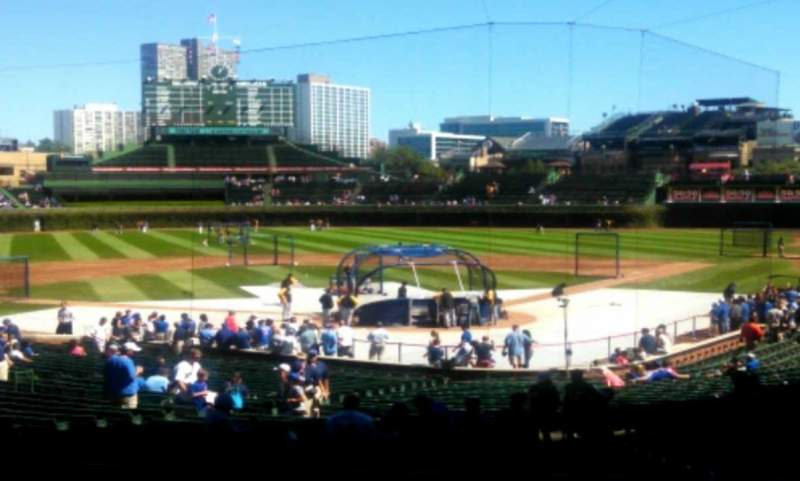 Seating view for Wrigley Field Section 219 Row 4 Seat 6