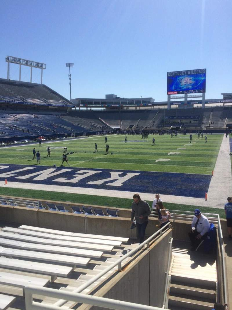Seating view for Kroger Field Section 19 Row 12 Seat 4