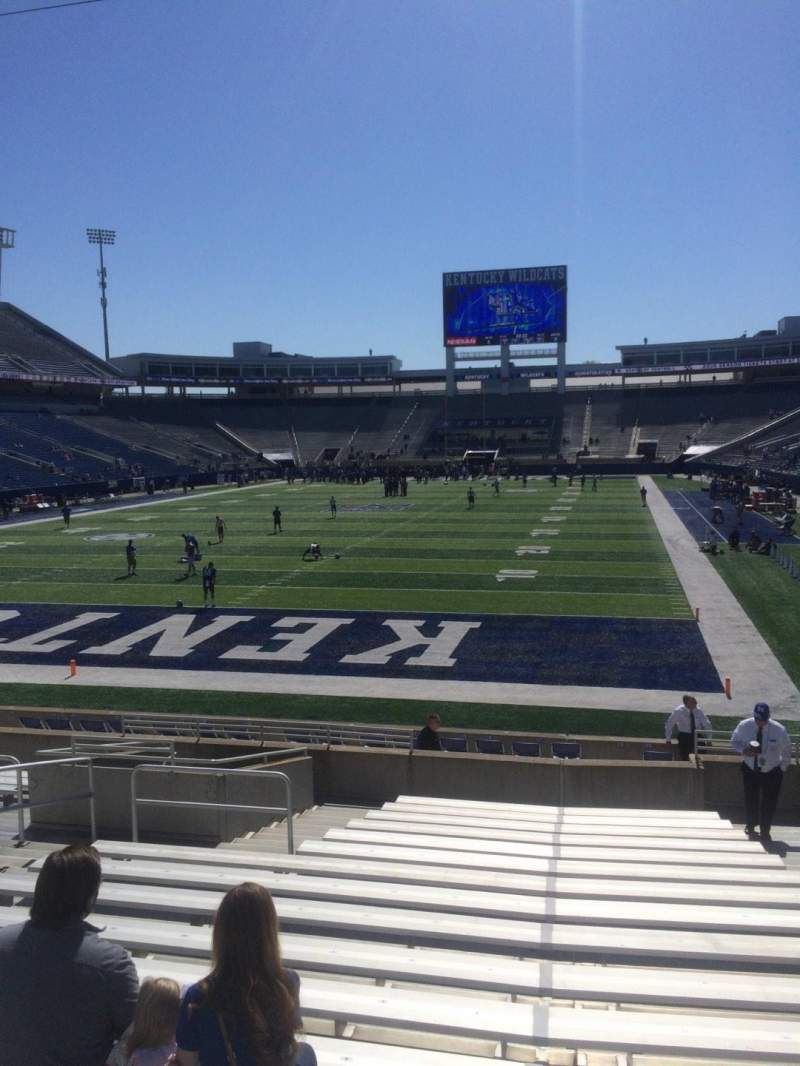 Seating view for Kroger Field Section 18 Row 17 Seat 10