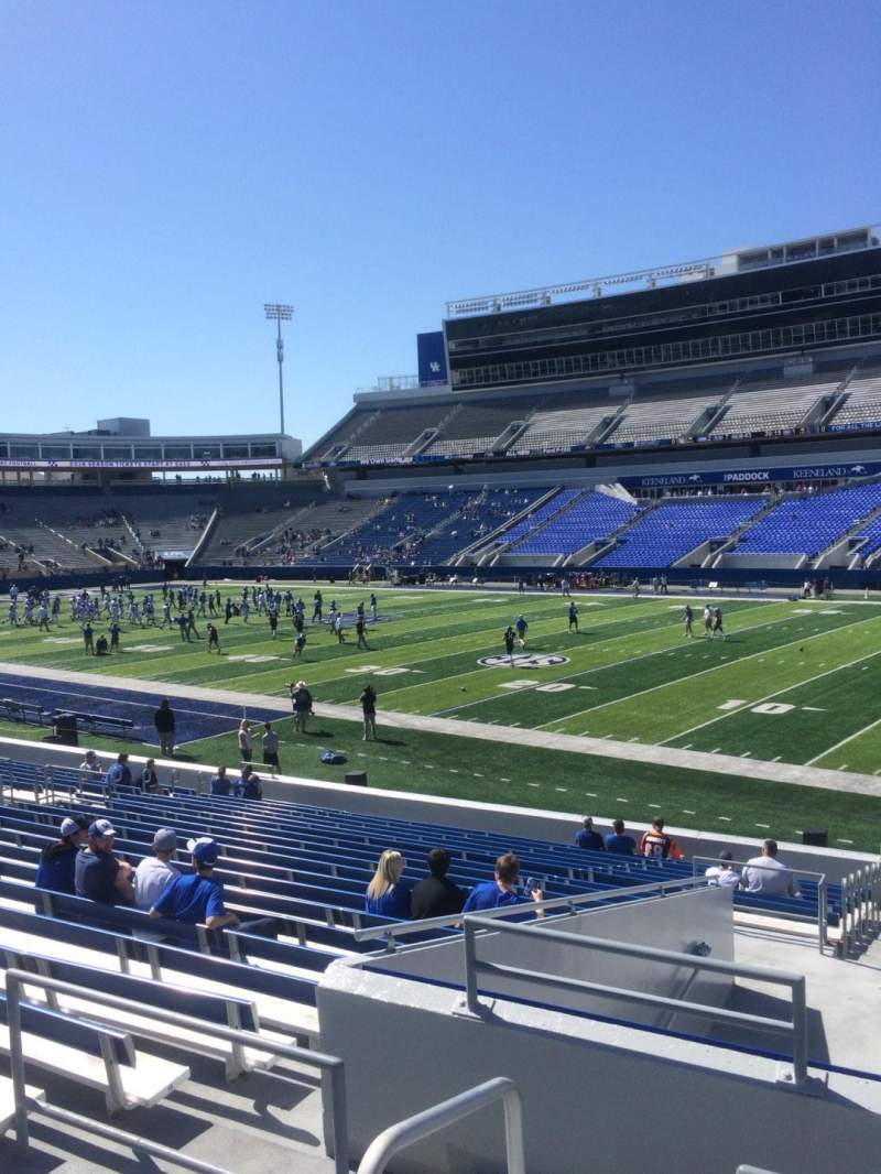 Seating view for Commonwealth Stadium Section 10 Row 23 Seat 1