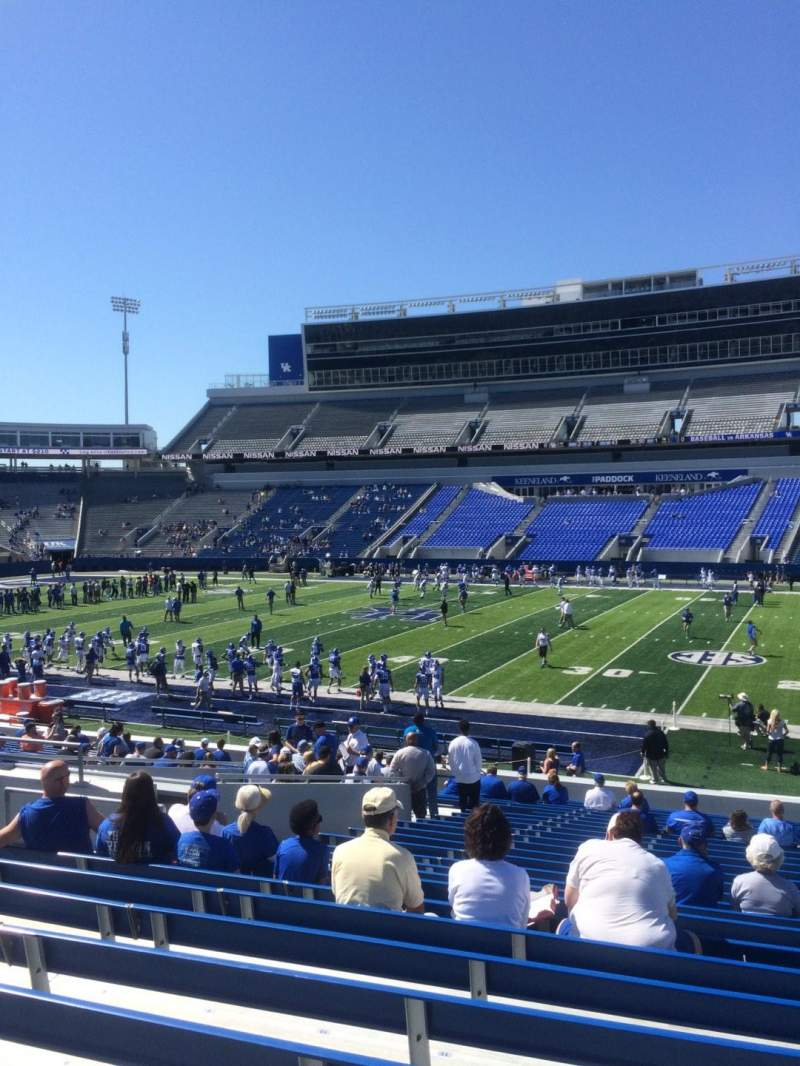Seating view for Kroger Field Section 8 Row 27 Seat 13