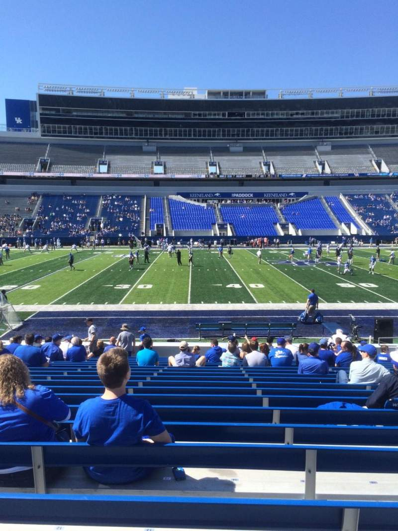 Kroger Field, section: 5, row: 17, seat: 14