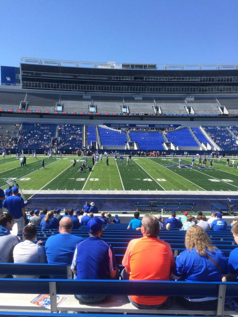 Seating view for Kroger Field Section 5 Row 17 Seat 6