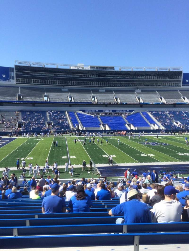 Seating view for Kroger Field Section 4 Row 34 Seat 17