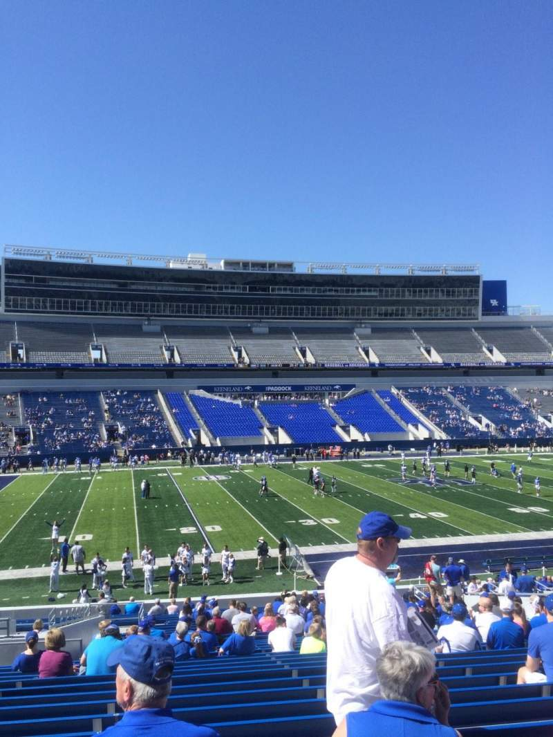 Seating view for Kroger Field Section 4 Row 35 Seat 9