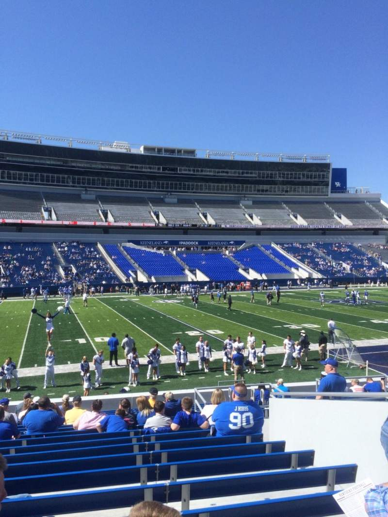 Seating view for Kroger Field Section 3 Row 19 Seat 18
