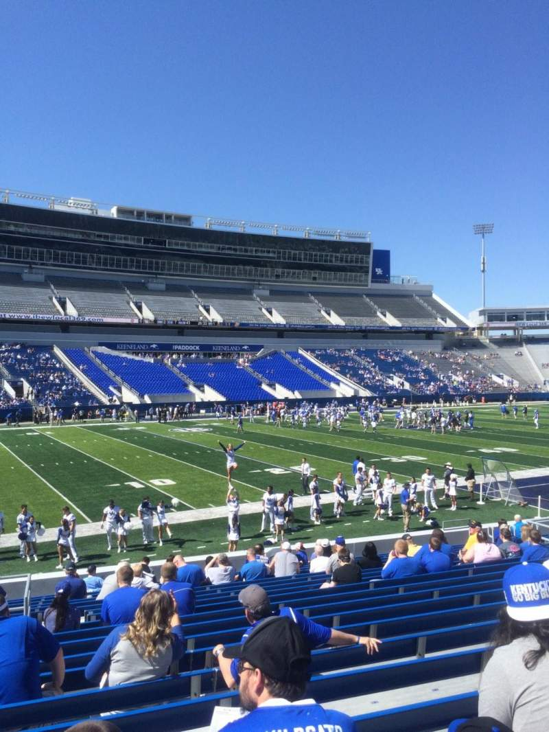 Seating view for Kroger Field Section 3 Row 20 Seat 5