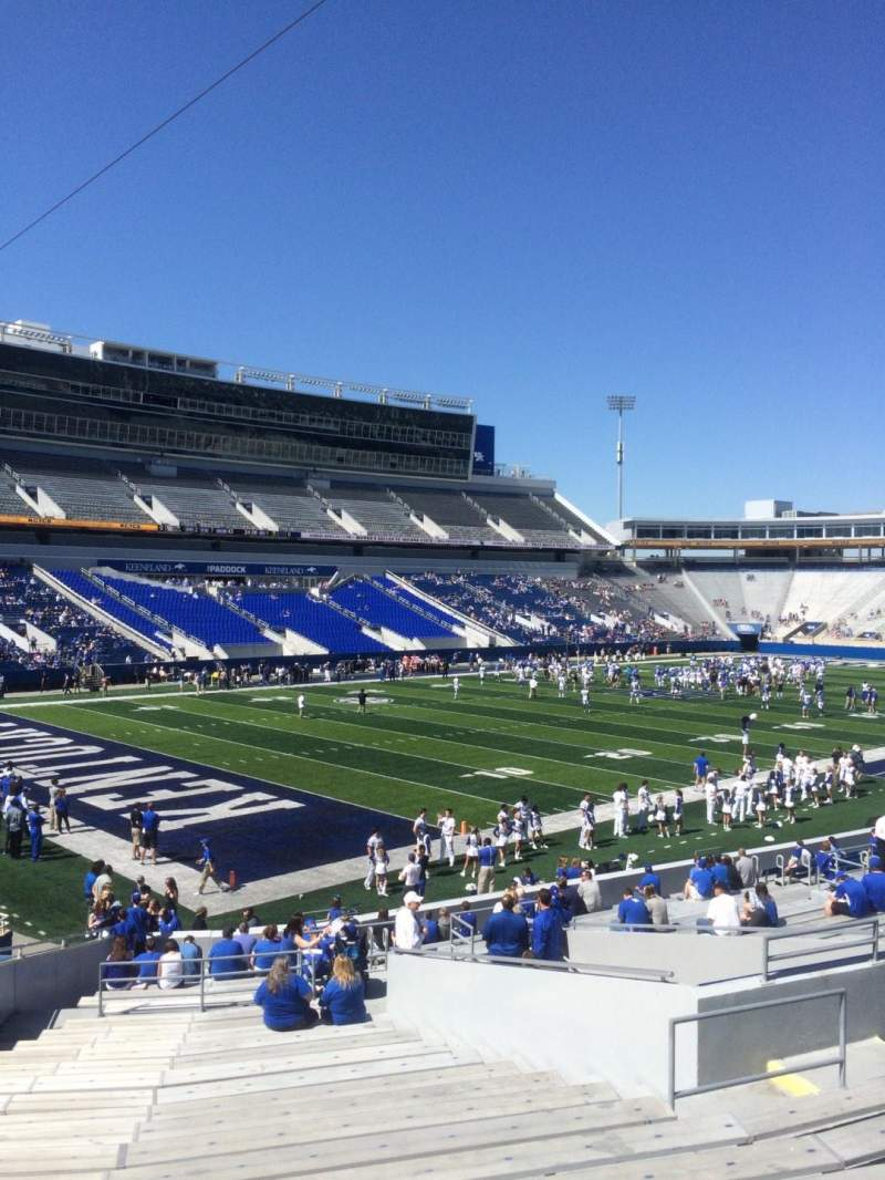 Seating view for Kroger Field Section 1 Row 28 Seat 11