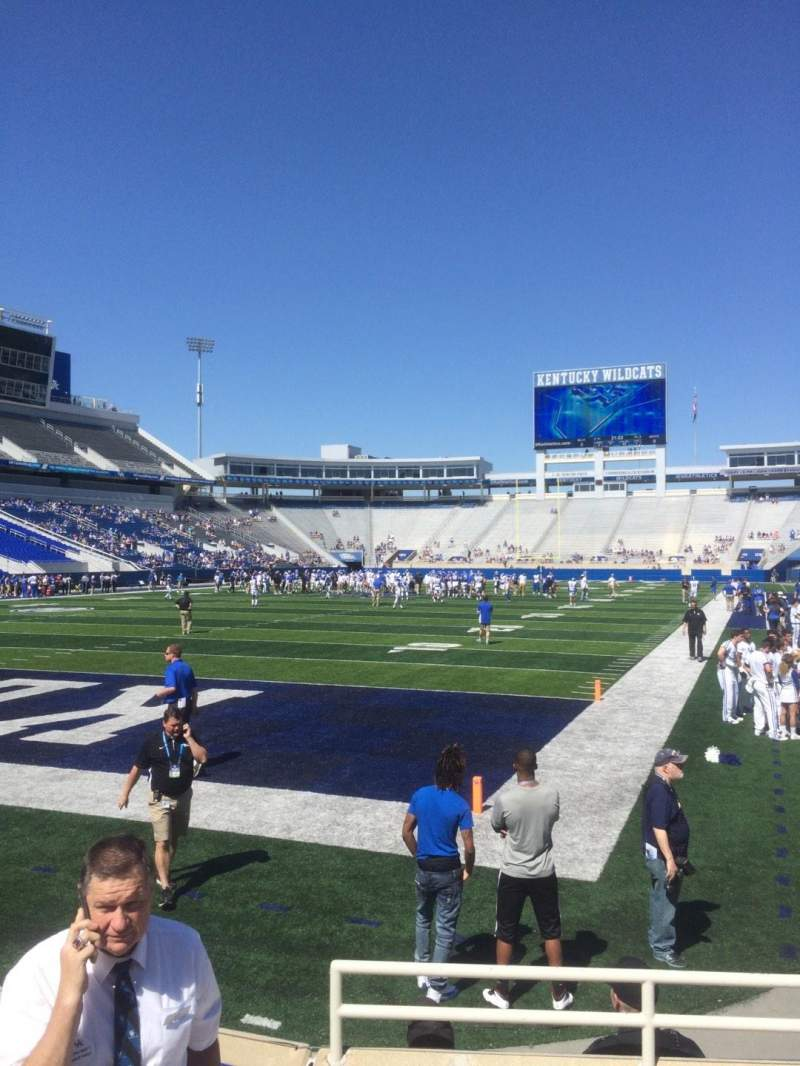 Seating view for Commonwealth Stadium Section 40 Row 1 Seat 16