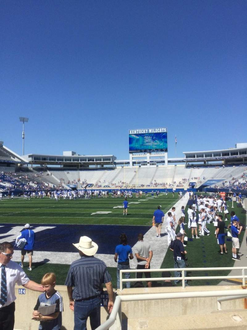 Seating view for Kroger Field Section 40 Row 3 Seat 13