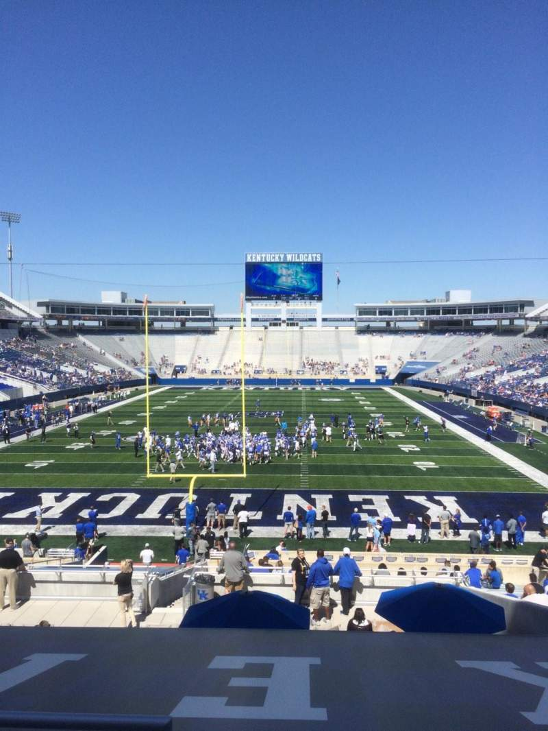 Seating view for Commonwealth Stadium Section 37 Row 33 Seat 1