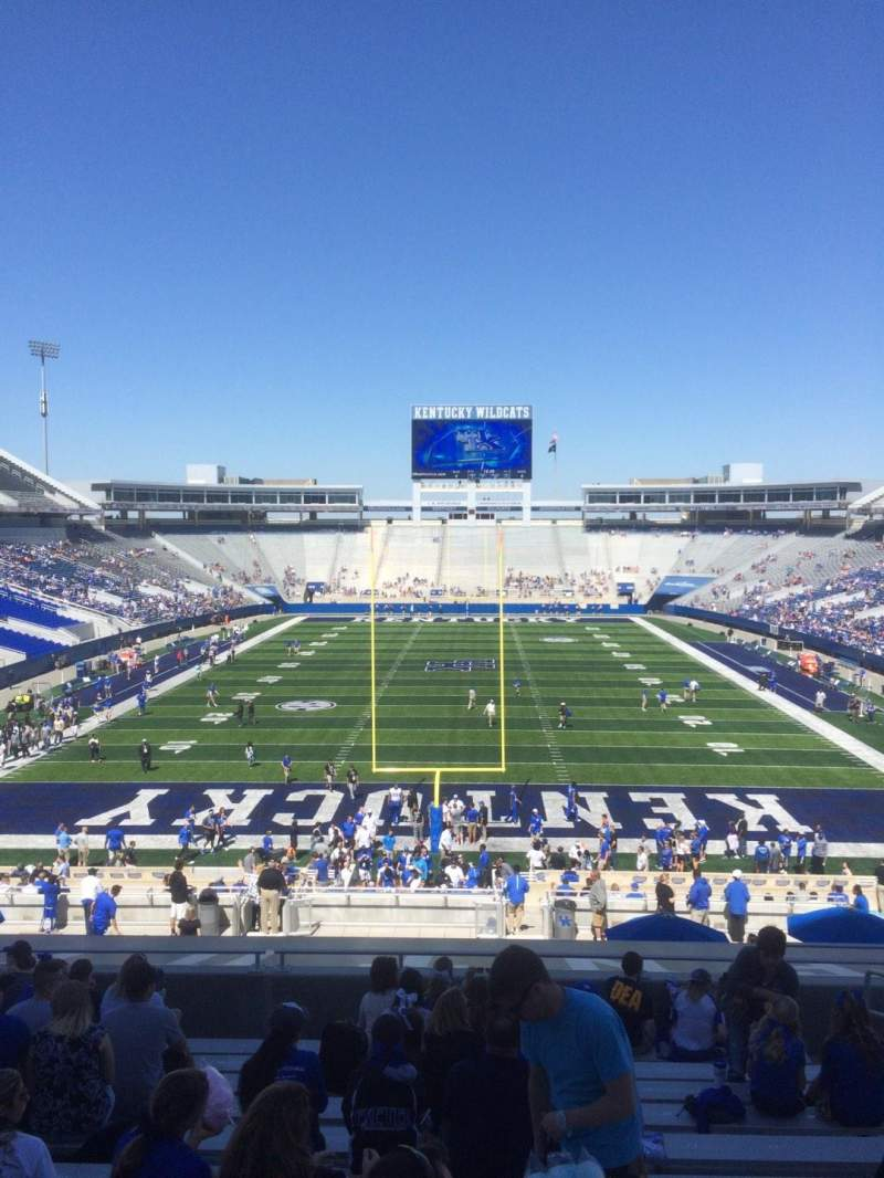 Seating view for Commonwealth Stadium Section 36 Row 43 Seat 15